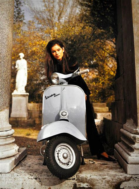modern vespa   daily respectable clothed scooter