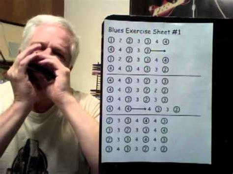 beginner harmonica lessons blue exercise sheet  youtube