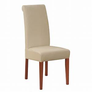 Cream Wood Upholstered Dining Chairs » Home Decorations