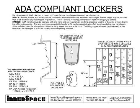 Ada Compliant Lockers  Accessible Construction