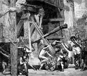 Roman Siege Warfare - Arrow Throwing Catapult During a Siege