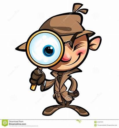 Detective Cartoon Clip Clipart Kid Badge Investigation