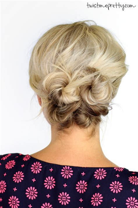 knotted updo  short hair twist  pretty