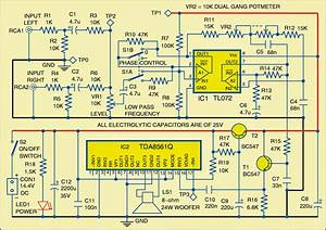 Low Noise Power Amplifier Circuit For Subwoofer