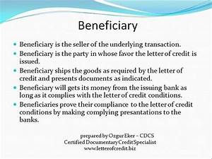parties to letter of credit | presentation 4 | LC ...