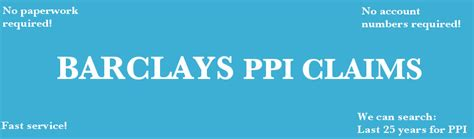 We did not find results for: Barclays PPI Claim Experts free PPI check & no paperwork required PPI Claims & Rejected PPI ...