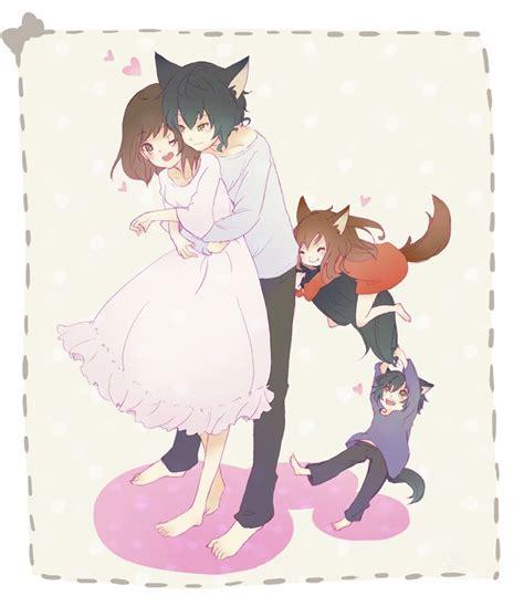 hana ookami   children yuki  ame  wolf