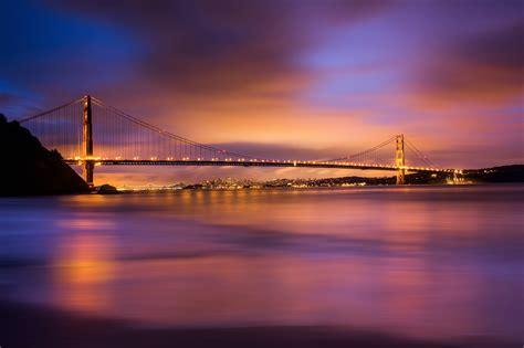 golden gate bridge sunset wallpaper desktop nuf