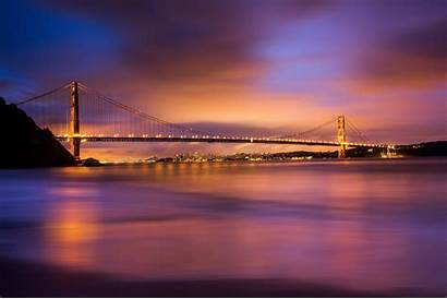 Bridge Gate Golden Sunset Desktop Wallpapers During
