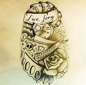 'Live Long' - New School Tattoo Design by robbutler33 on ...