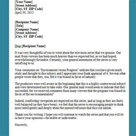 business letter writing format sample letters