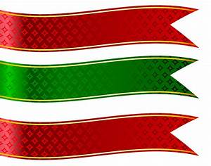 Green and Red Banners Set PNG Clipart Picture