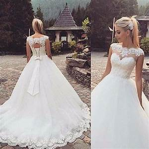 New white ivory wedding dress bridal gown stock size us 4 for White or ivory wedding dress