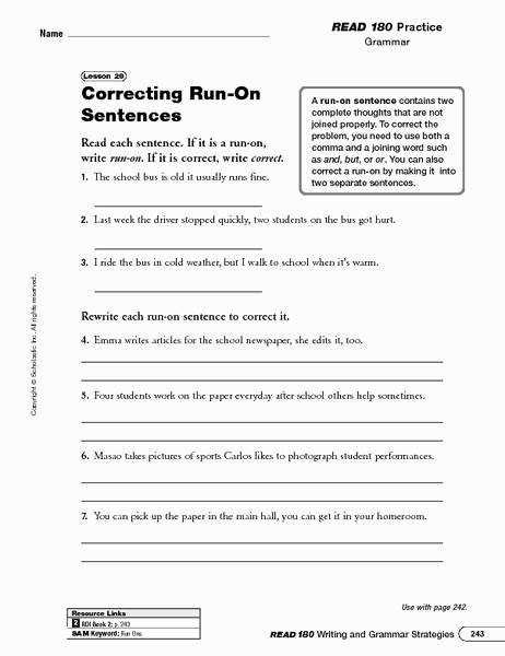 run on sentences worksheets homeschooldressage