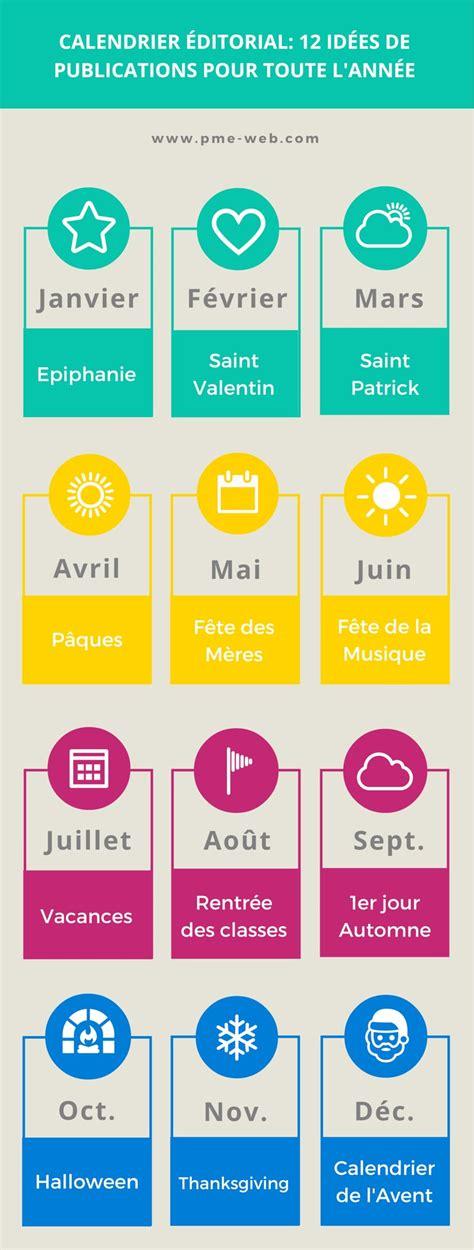 si鑒es sociaux calendrier éditorial 12 idées de publications saisonnières sur les réseaux sociaux infographie
