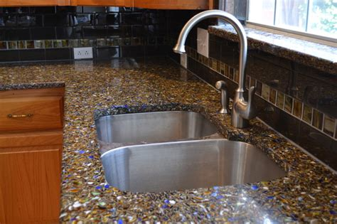 recycled glass countertops vetrazzo recycled glass countertop contemporary