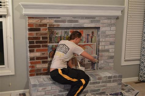 How To Whitewash A Brick Fireplace-easy Steps