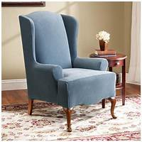 chair slip cover Wingback Chair Slipcover for Comfortable Seating | HomesFeed