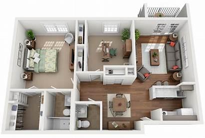 Den Bedroom Apartment Floor Plans Plan Highlands