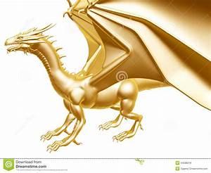 Golden Fire Dragon Stock Illustration - Image: 44588218