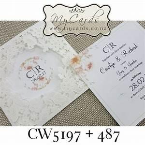 z cw5197 wedding invitation cover sleeve white embossed With embossed wedding invitations nz