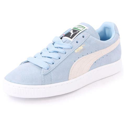 light blue puma shoes puma suede classic 355686 02 womens size 3 4 5 6 7 8