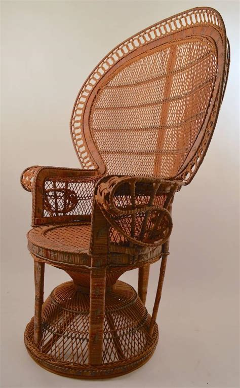 Bedroom Wicker Chairs For Sale by Classic Wicker Emanuelle Peacock Chair For Sale At 1stdibs