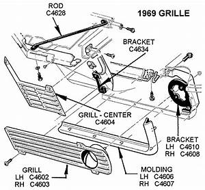 1969 Grille - Diagram View