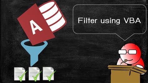 [Access] VBA ฉบับเร่งรัด 6 - กรองข้อมูลโดนใช้ Filter กับ ...