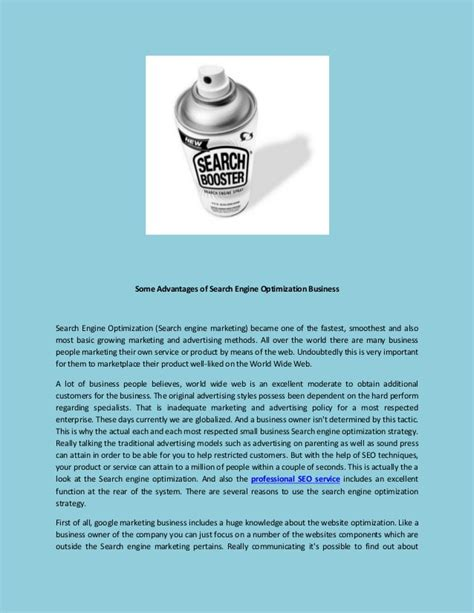 Search Engine Optimization Business by Some Advantages Of Search Engine Optimization Business