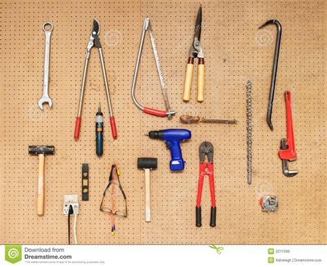 hanging tools on wall tool wall stock photo image of drill tool mallet 4145