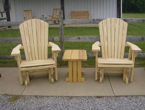 jake s amish furniture 2 adirondack gliders with end