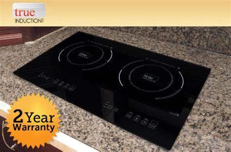 true induction ti counter inset double burner induction cooktop