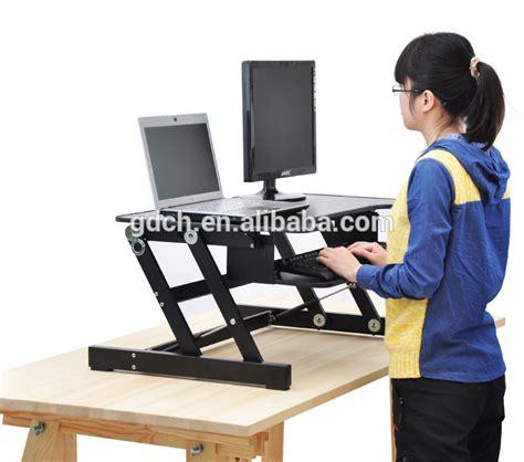 computer keyboard stand for desk portable wooden desktop table folding adjustable laptop