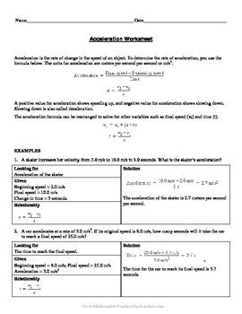 force and motion calculating acceleration by lori maldonado tpt