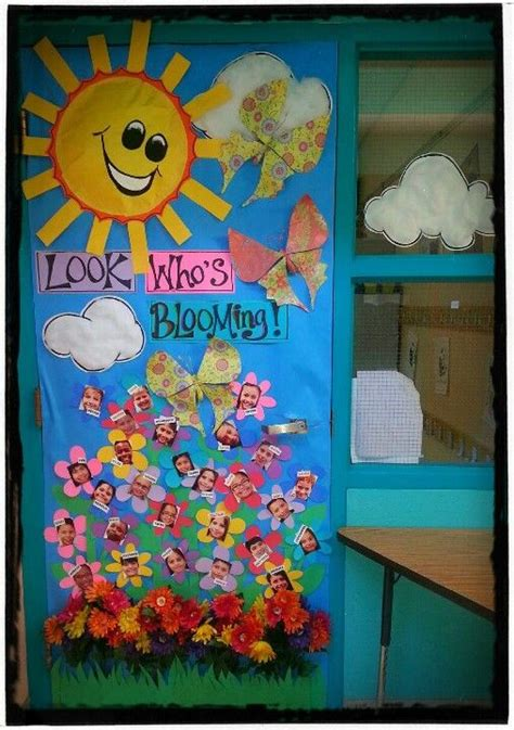 spring bulletin board and door decoration for classrooms