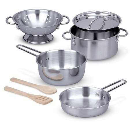Amazon.com: Melissa & Doug Stainless Steel Pots and Pans