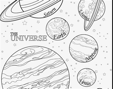 Planets And Stars Coloring Pages Printable Coloring Page