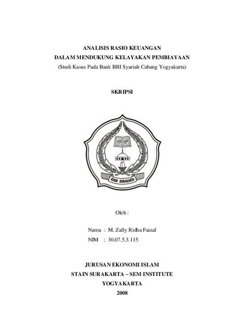 (PDF) ANALISIS RASIO KEUANGAN DALAM MENDUKUNG KELAYAKAN