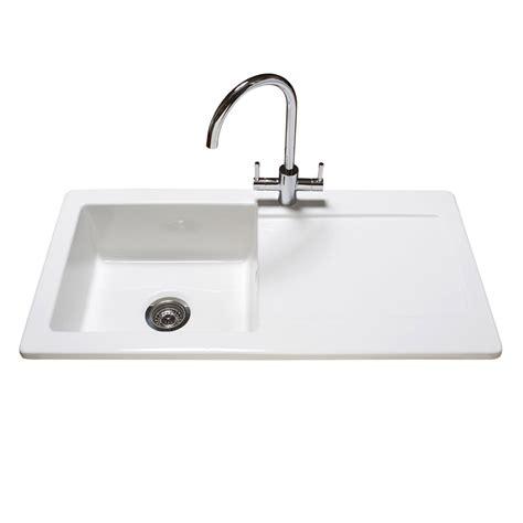 reginox contemporary white ceramic  bowl kitchen sink