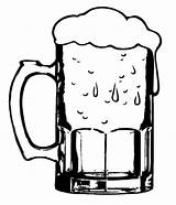 Beer Coloring Glass Clipart Pages Cold Mug Drawing Stein Mugs Place Silhouette Getdrawings Clipground Tocolor sketch template