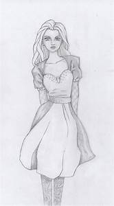 Girl in dress_pencil drawing by annemator-08 on DeviantArt