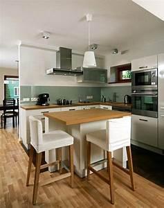 armoires de cuisine blanches avec quels murs et credence With couleur peinture taupe clair 3 comment integrer la couleur vert kaki dans sa decoration