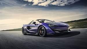 McLaren 600LT Spider Lantana Purple 2019 5K Wallpaper HD