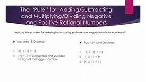 Adding and subtracting positive and negative rational ...