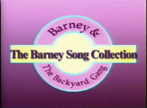 kid rock fan club the barney song collection custom barney episode wiki