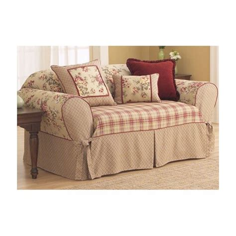 fit lexington sofa skirted box cushion slipcover ebay