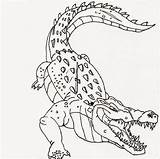 Crocodile Coloring Scary Easy Advanced Printable Adults 101coloring sketch template