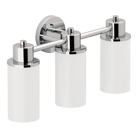 Moen Bathroom Light Fixtures by Moen Dn0763ch Iso 3 Globe Bath Light Chrome Vanity