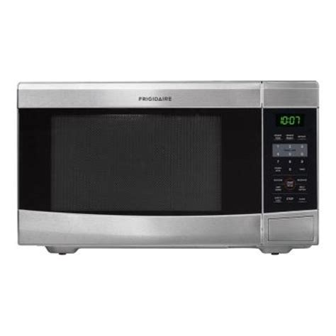 home depot countertop microwaves frigidaire 1 1 cu ft countertop microwave in stainless